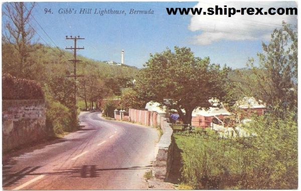 Bermuda, Gibbs Hill Lighthouse - postcard